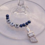 Paint Brush Personalised Wine Glass Charm